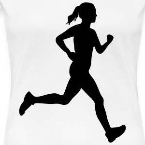 Woman running - Women's Premium T-Shirt