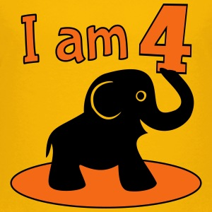 4th birthday elephant Kids' Shirts - Kids' Premium T-Shirt