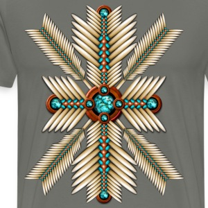 Bone and Turquoise Sunburst - Men's Premium T-Shirt