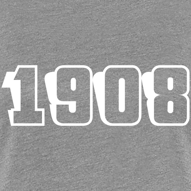 1908 fitted tee (white text)