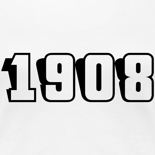 1908 fitted tee (black text)
