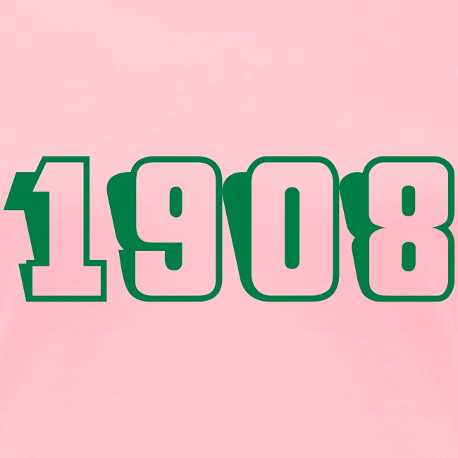 1908 fitted tee (green text)