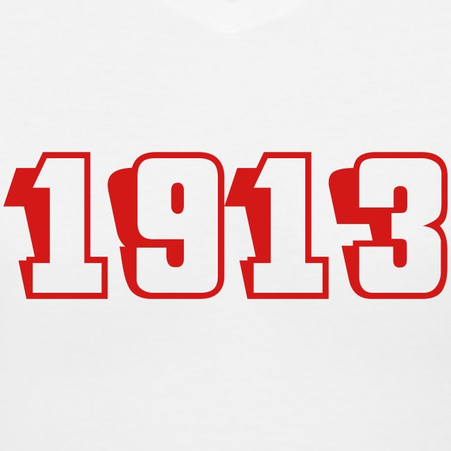 1913 V neck (red text)