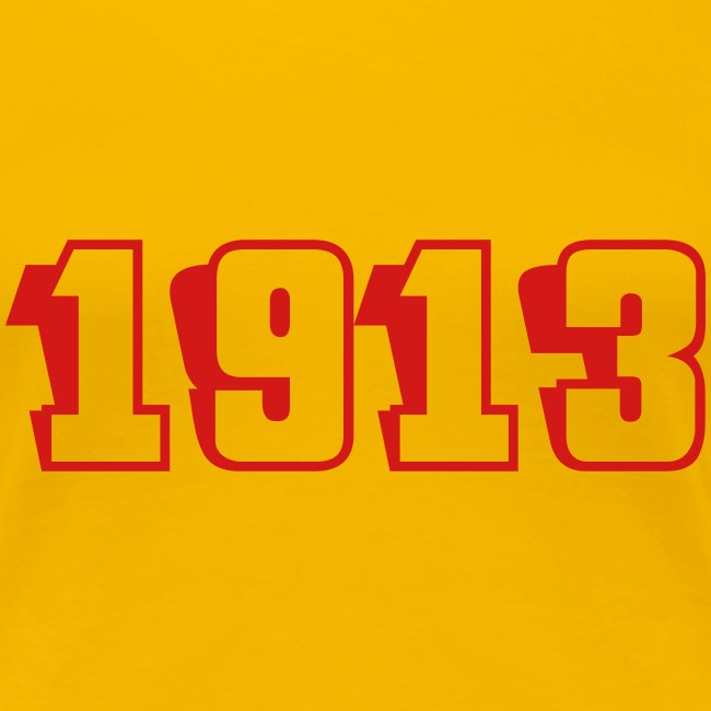 1913 fitted tee (red text)