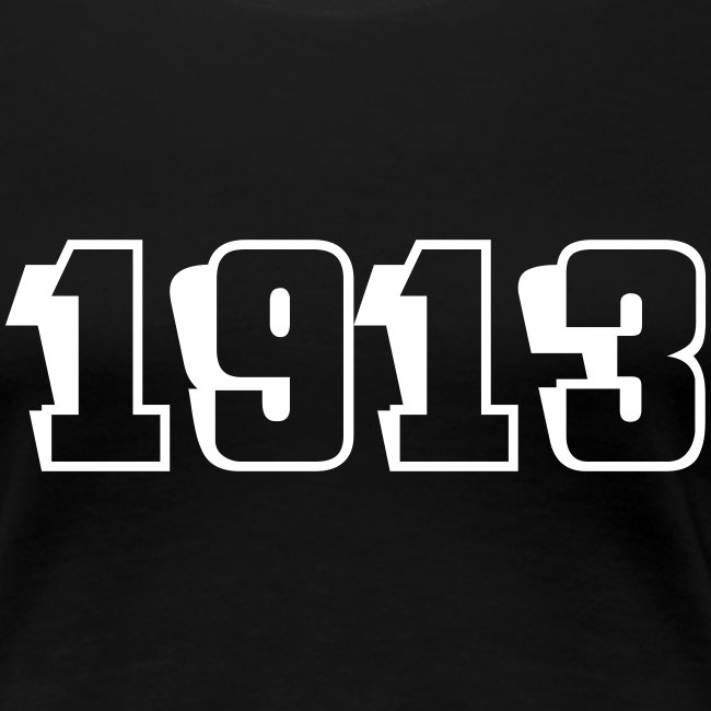 1913 fitted tee (white text)