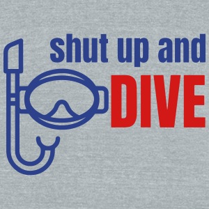 Diving T-Shirts - Unisex Tri-Blend T-Shirt by American Apparel