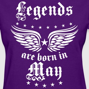 Legends are born in May Birthday Wings T-Shirt - Women's T-Shirt