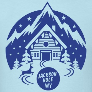 Jackson Hole, Wyoming - Men's T-Shirt