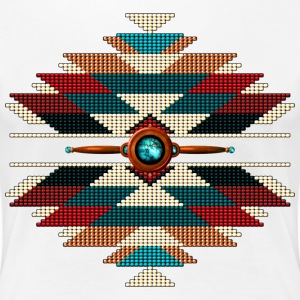 Southwest Native American Sunburst - Women's Premium T-Shirt