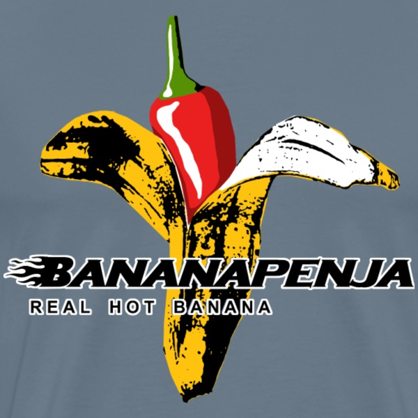 Bananapenja Black Text - Men's Premium T-Shirt