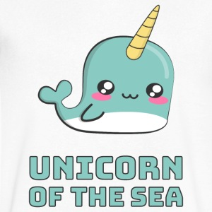 Narwhal Unicorn of the Sea T-Shirts - Men's V-Neck T-Shirt by Canvas