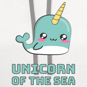 Narwhal Unicorn of the Sea Hoodies - Contrast Hoodie