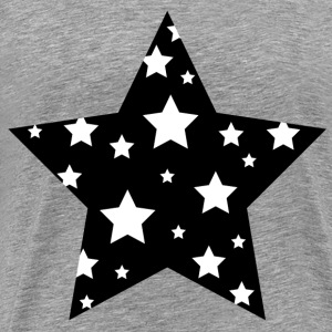 stars-clipart-black-and-white-black-and-white-star - Men's Premium T-Shirt