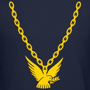 Peace Dove Gold Chain Long Sleeve Shirts - Crewneck Sweatshirt