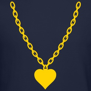 Heart Gold Chain Long Sleeve Shirts - Crewneck Sweatshirt