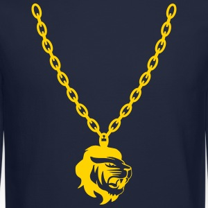 Lion Gold Chain Long Sleeve Shirts - Crewneck Sweatshirt
