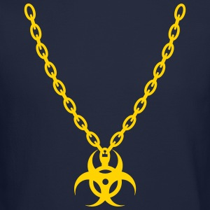 Biohazard Gold Chain Long Sleeve Shirts - Crewneck Sweatshirt
