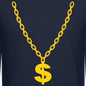 Dollar Gold Chain Long Sleeve Shirts - Crewneck Sweatshirt