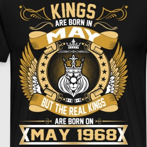 The Real Kings Are Born On May 1968 T-Shirts - Men's Premium T-Shirt