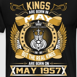 The Real Kings Are Born On May 1957 T-Shirts - Men's Premium T-Shirt
