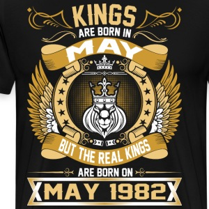 The Real Kings Are Born On May 1982 T-Shirts - Men's Premium T-Shirt