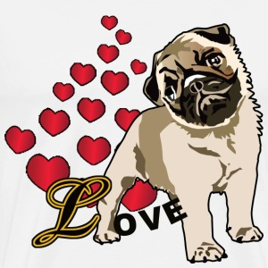 Love A Pug - Men's Premium T-Shirt