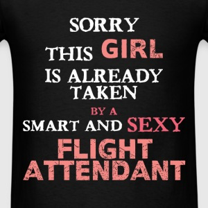 Flight attendant - Sorry this girl is already take - Men's T-Shirt