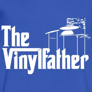 The Vinylfather Djing T-Shirts - Men's V-Neck T-Shirt by Canvas
