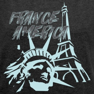 FRANCE AMERICA - Women´s Roll Cuff T-Shirt
