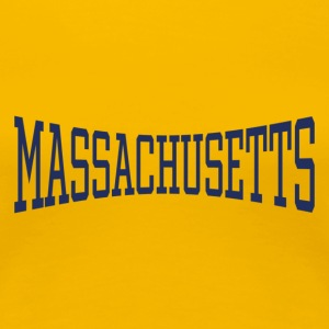 Massachusetts Ladie's T-Shirt Yellow - Women's Premium T-Shirt