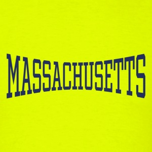Massachusetts Neon Yellow T-Shirt - Men's T-Shirt