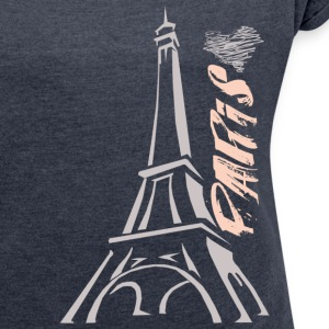 PARIS - Women´s Rolled Sleeve Boxy T-Shirt