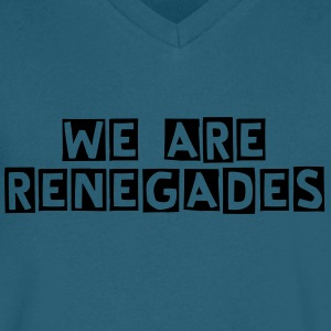 We Are RENEGADES - Men's V-Neck T-Shirt by Canvas