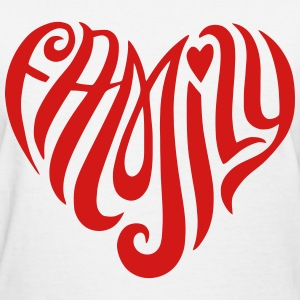 Family Heart Shaped T-Shirts - Women's T-Shirt