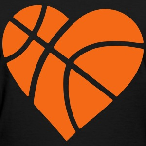 Heart Basketball T-Shirts - Women's T-Shirt
