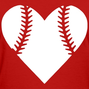 Heart Baseball T-Shirts - Women's T-Shirt