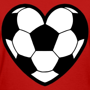 Soccer Ball Heart Filled T-Shirts - Women's T-Shirt