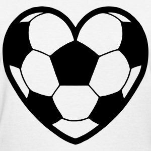 Soccer Ball Heart T-Shirts - Women's T-Shirt