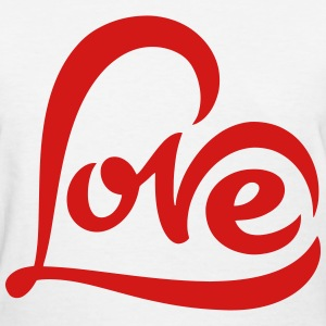Love Heart Shape T-Shirts - Women's T-Shirt