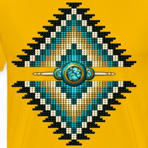 Native American Beadwork 10 - Men's Premium T-Shirt
