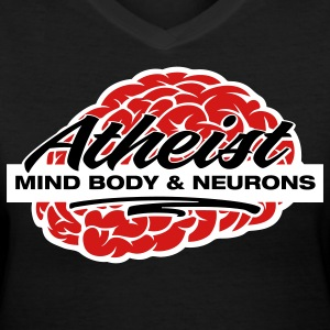 Atheist - Mind, Body & Neurons Women's T-Shirts - Women's V-Neck T-Shirt