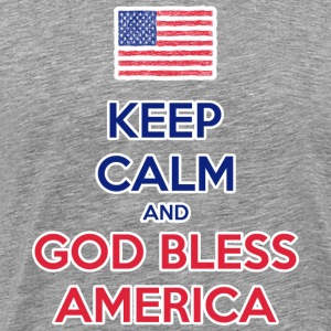 Keep Calm and God bless America T-Shirts - Men's Premium T-Shirt