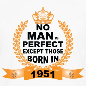 No Man is Perfect Except Those Born in 1951 Long Sleeve Shirts - Men's Premium Long Sleeve T-Shirt
