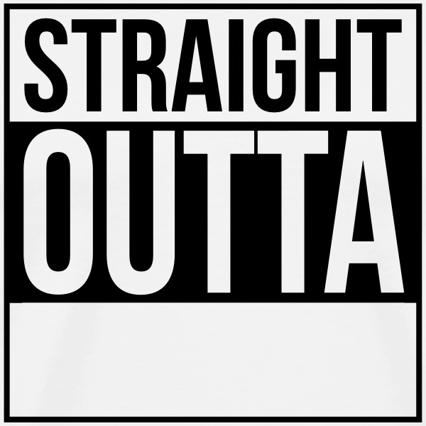 straight outta - Men's Premium T-Shirt