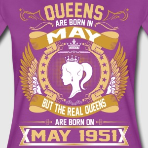 The Real Queens Are Born On May 1951 T-Shirts - Women's Premium T-Shirt