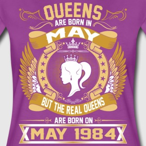 The Real Queens Are Born On May 1984 T-Shirts - Women's Premium T-Shirt