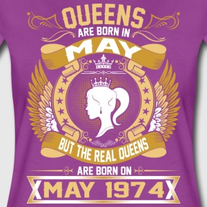 The Real Queens Are Born On May 1974 T-Shirts - Women's Premium T-Shirt