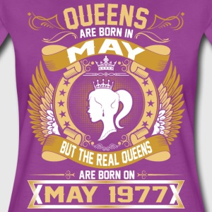 The Real Queens Are Born On May 1977 T-Shirts - Women's Premium T-Shirt
