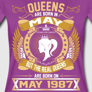 The Real Queens Are Born On May 1987 T-Shirts - Women's Premium T-Shirt