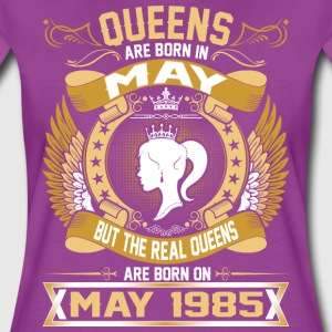 The Real Queens Are Born On May 1985 T-Shirts - Women's Premium T-Shirt